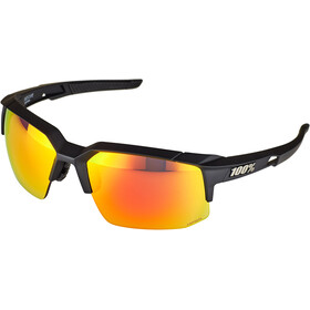 100% Speedcoupe Gafas, soft tact black | hd red multilayer/hiper lense